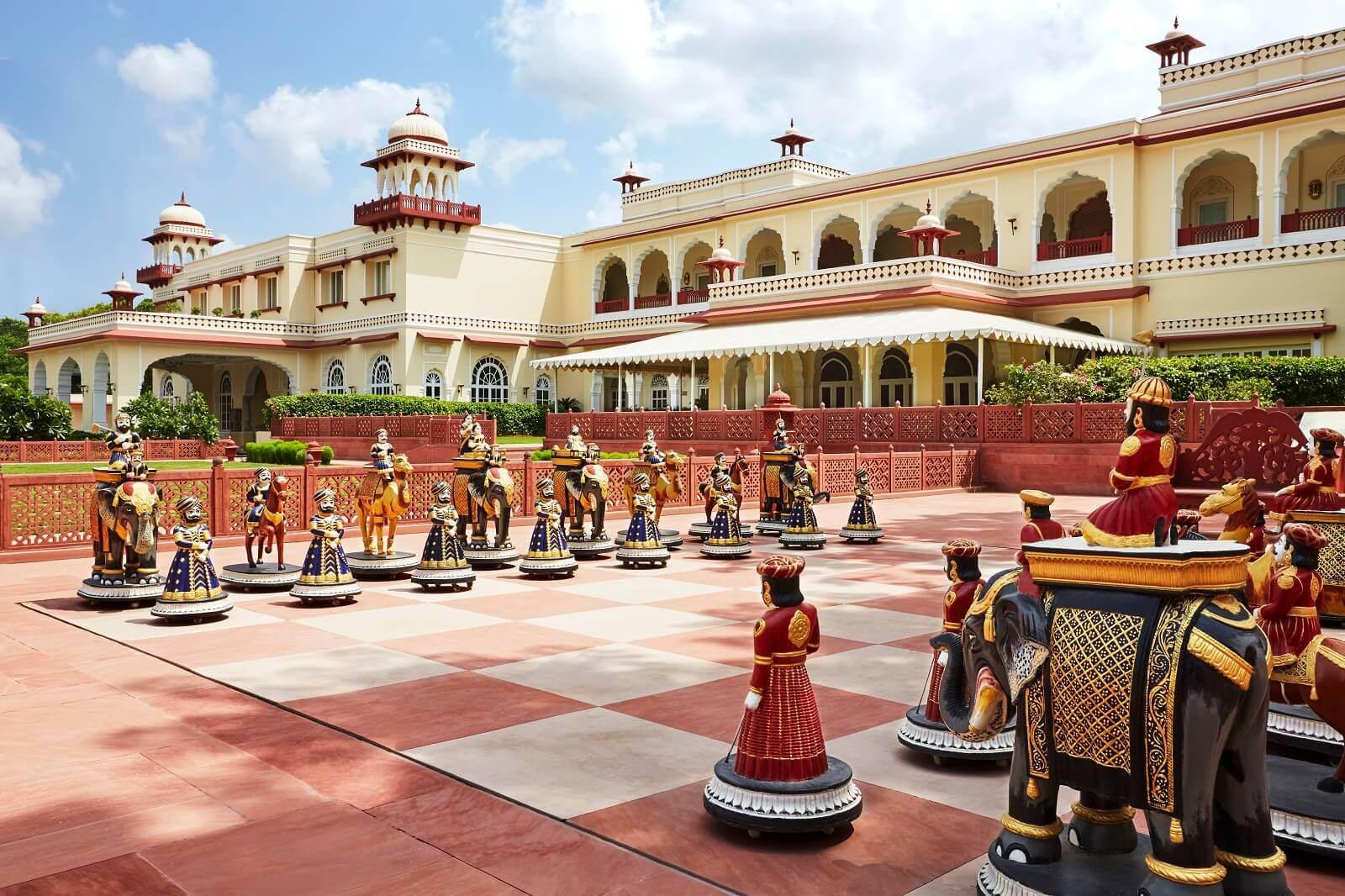 Chessboard Game at Jai Mahal Palace