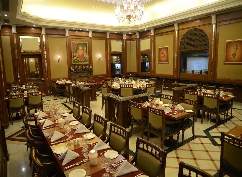 Dining at Lalit Laxmi Niwas Palace