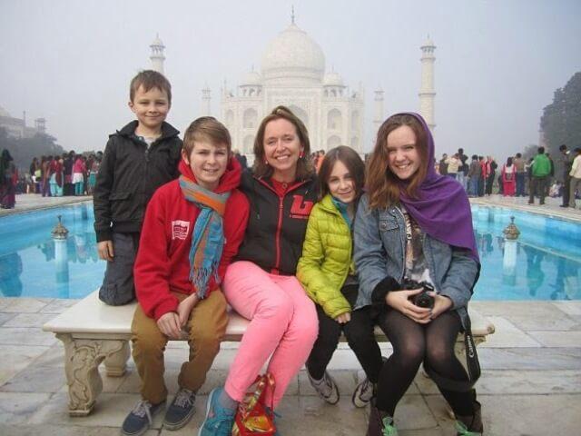 Taj Mahal Visiting with Kids