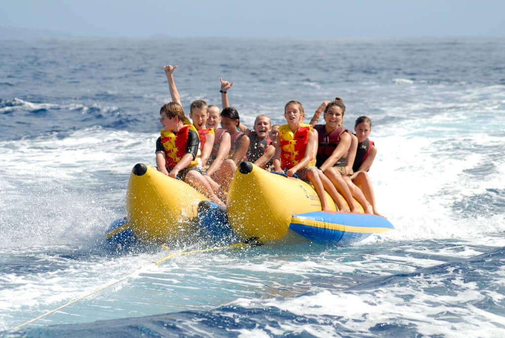 Banana boat in Goa