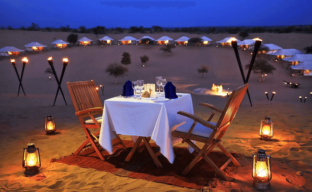 Night Stay at the Thar Desert Camp
