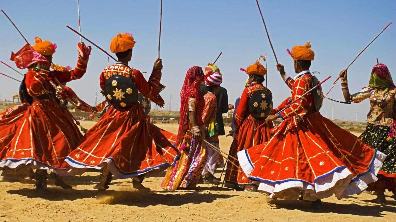 Dandi Gair Dance, Marwar Festival