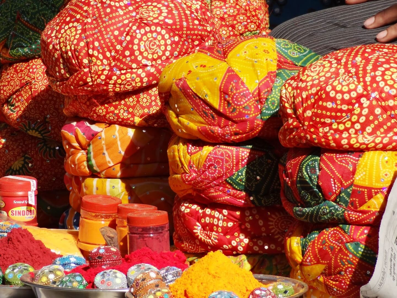 Bandhini Tie-Dye Turbans