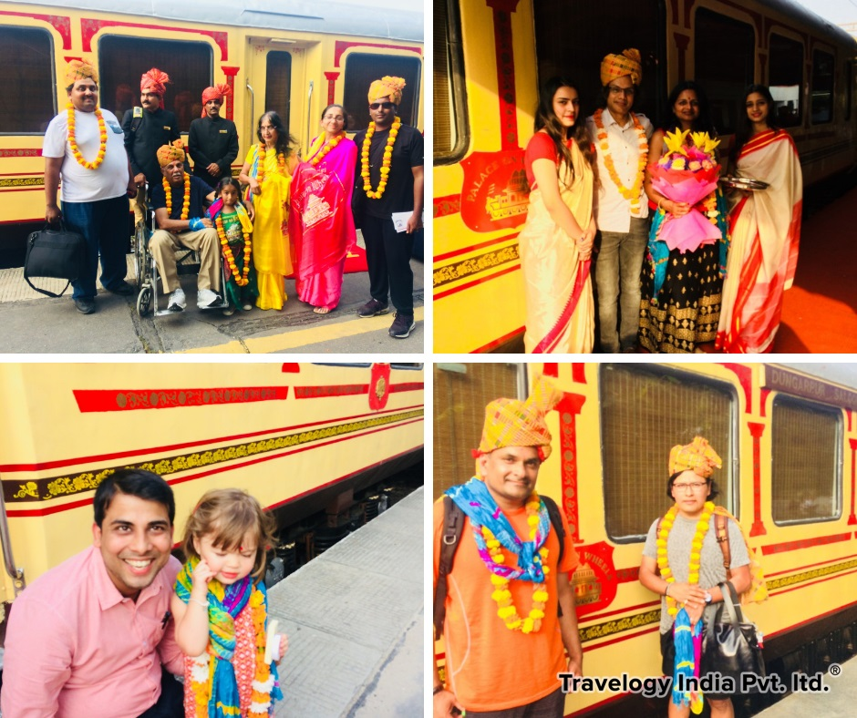 Our Guests of Palace on Wheels Train