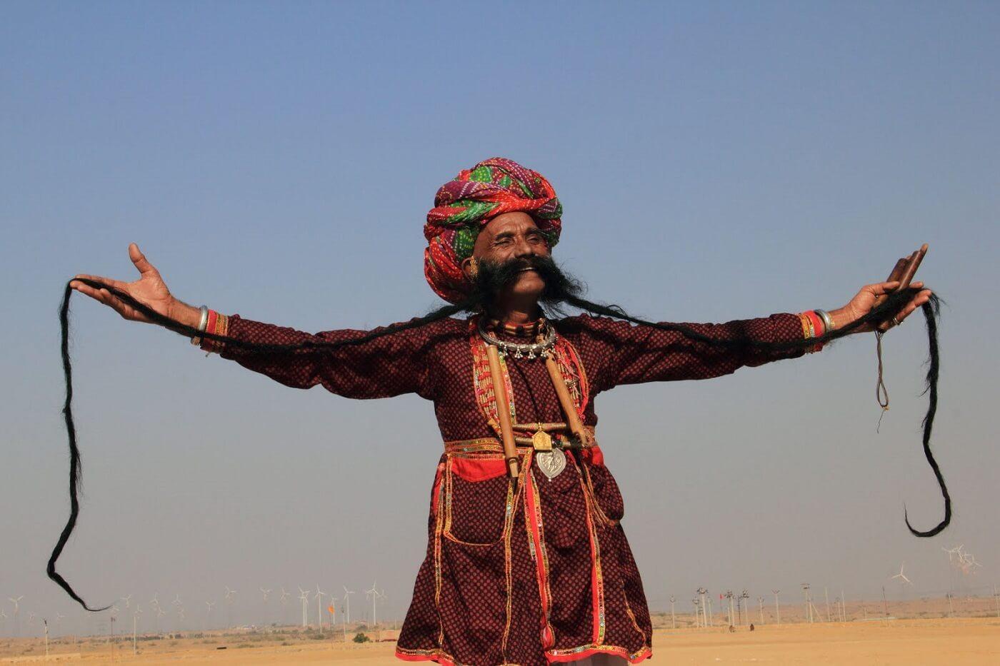 Moustache Competition at Jaisalmer Desert Festival