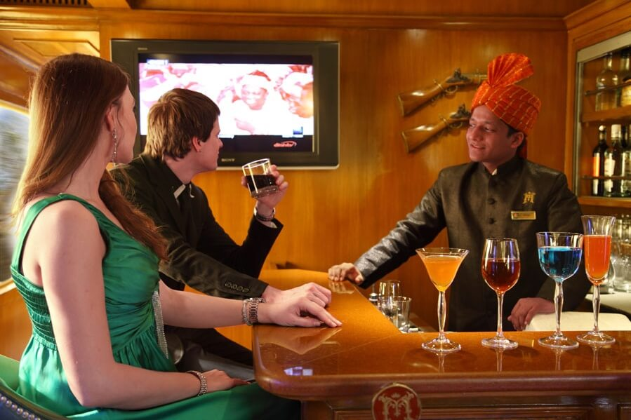 bar in maharajas express