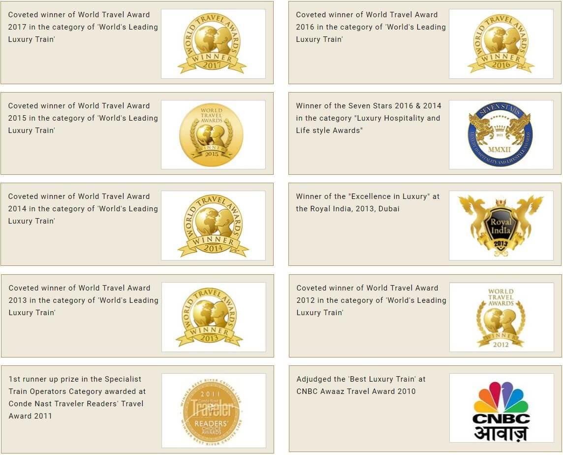maharajas express award