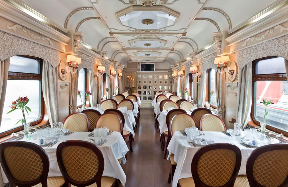Golden Eagle Luxury Train Dining