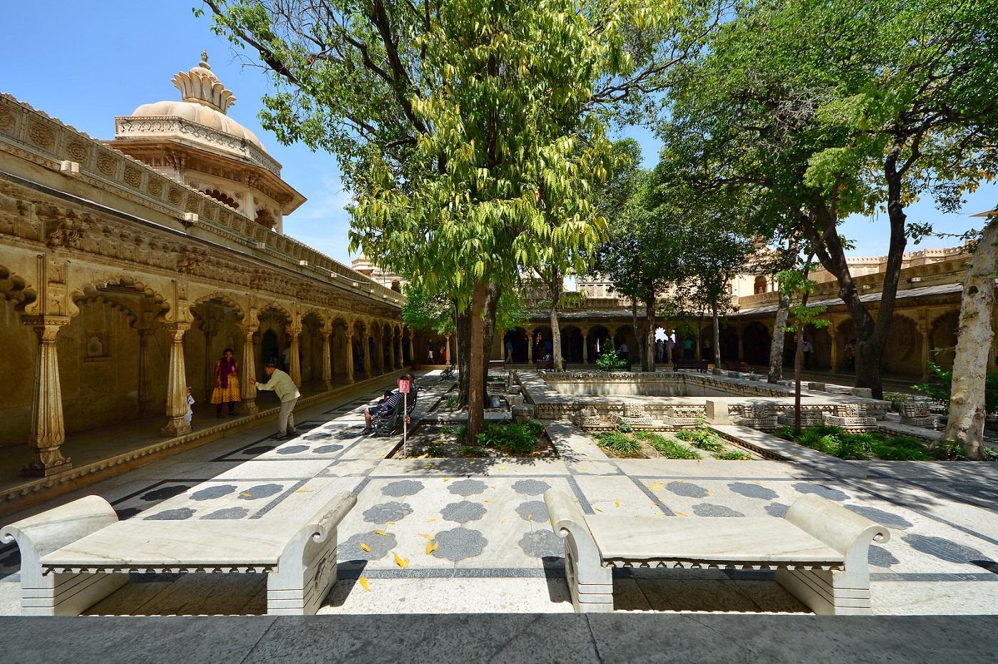 Amar Vilas at City Palace Udaipur
