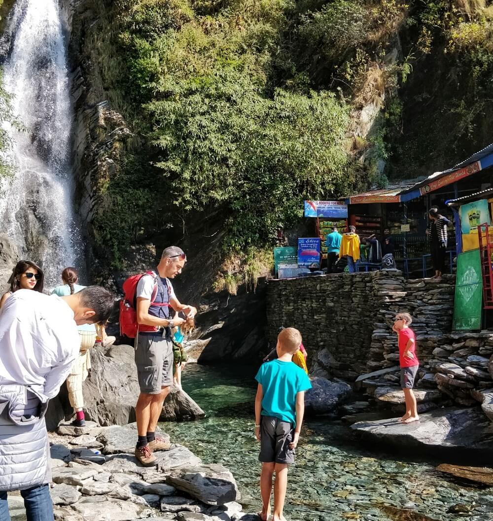 Bhagsu Waterfall Mcleodganj with Kids