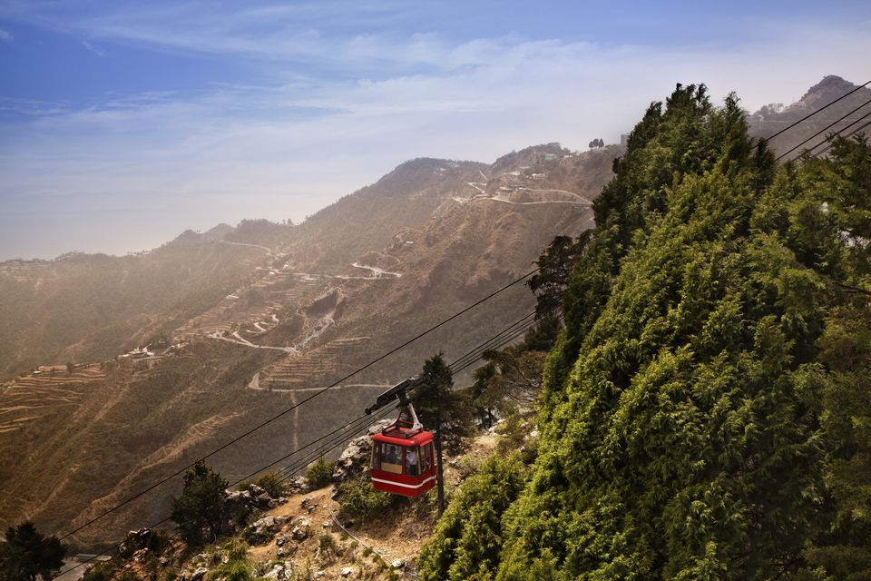 Cable Car Ride at Mussoorie Gun Point Hill