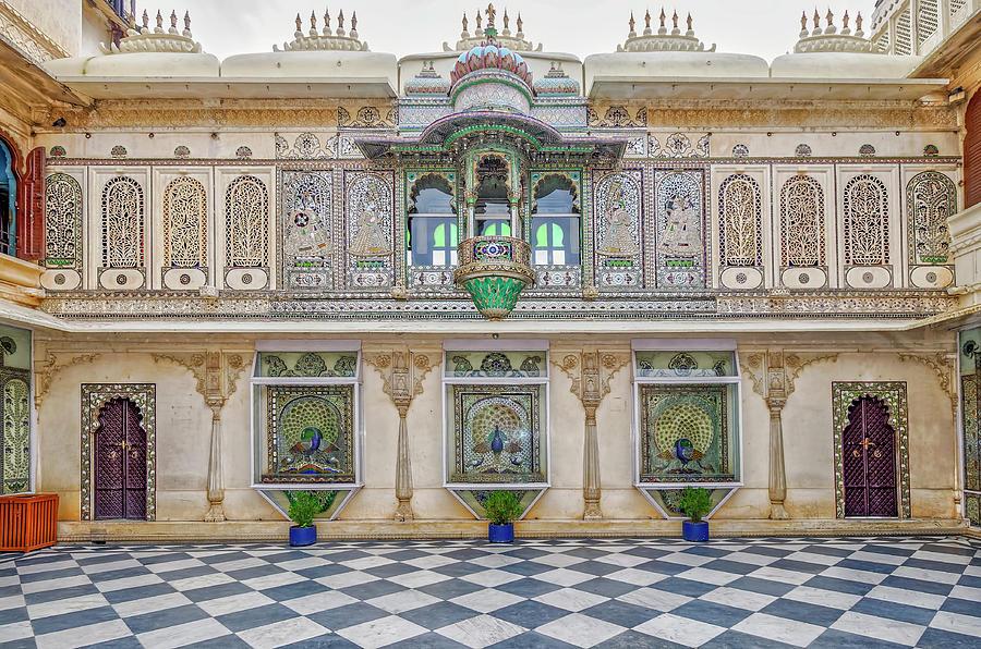 Mor Chowk at City Palace Udaipur