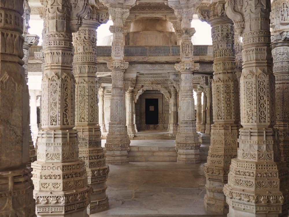 Pillars Inside Ranakpur Jain Temple