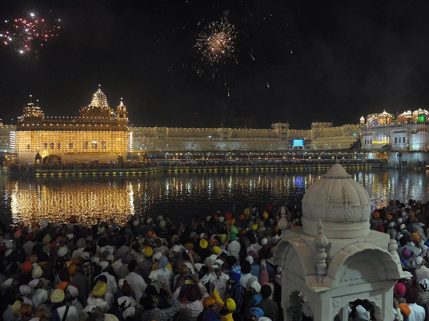 Golden Temple Amritsar during Diwali